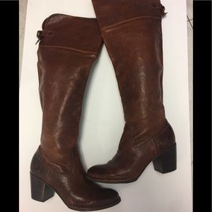 "Frye Dark Brown 3"" Heel Boots"